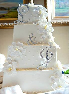 White Orchids Wedding Cake (2)