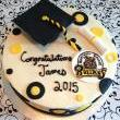 Graduation Cake with School Logo