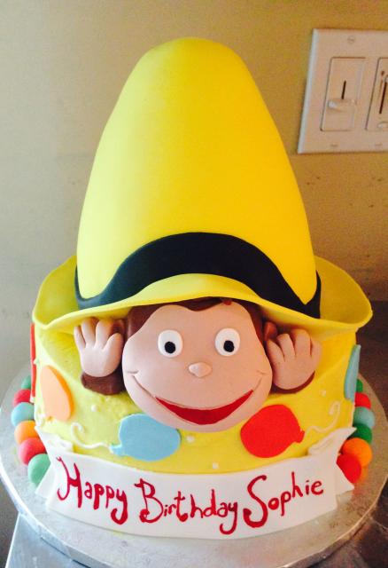 Curious George Yellow Hat Cake