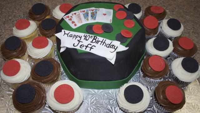 Poker Cake & Cupcakes