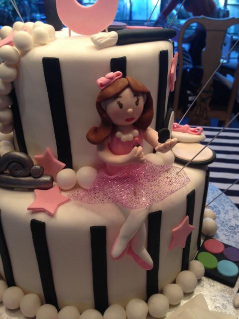 Close-up Girlie Make-up Cake