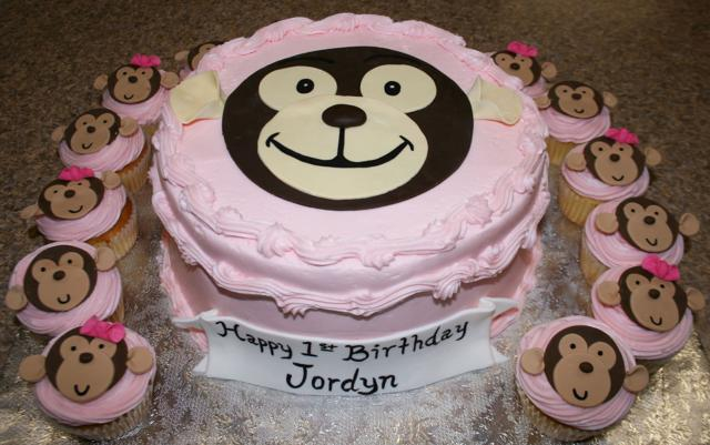 Monkey Cake & Cupcakes