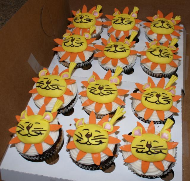 More Jungle Cupcakes