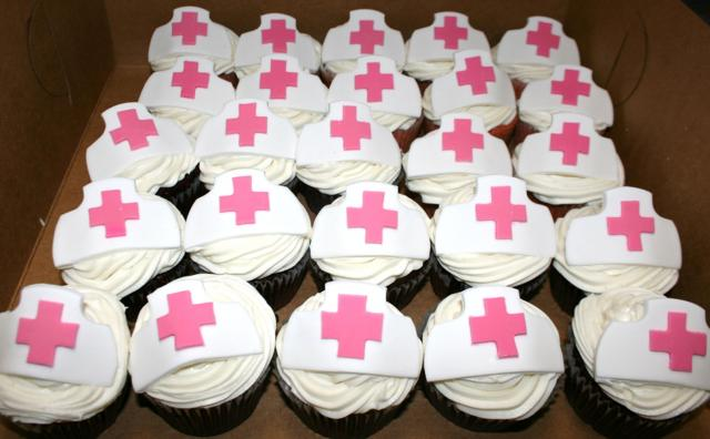 Nurse's Hat Cupcakes