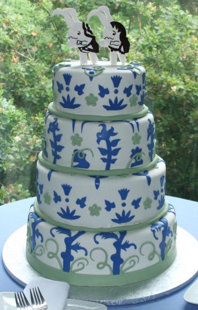 Videogame-Themed Wedding Cake