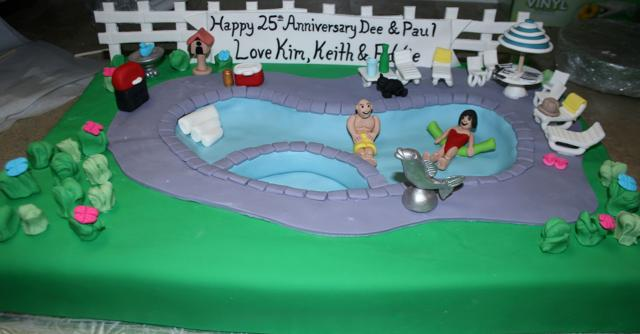 Backyard Pool Party Cake