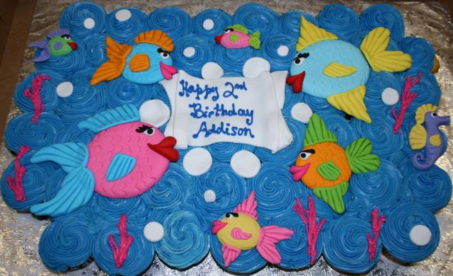 Tropical Fish Pull-away Cupcakes