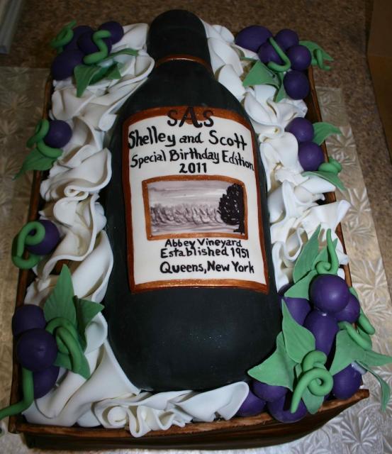 Birthday Wine Bottle Cake