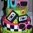 80's Birthday Cake