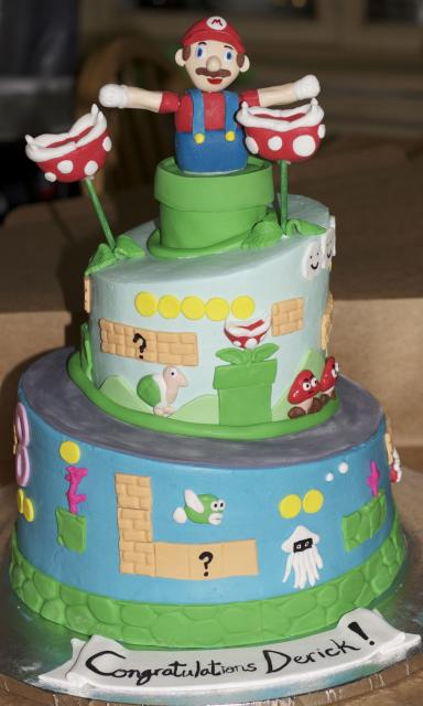 Mario Video Game Cake