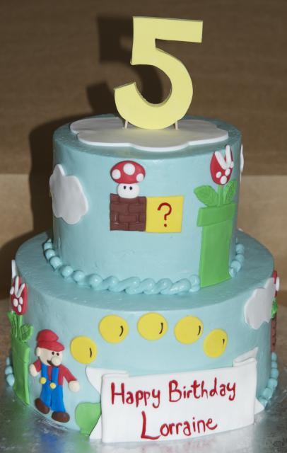 Simple Mario Cake