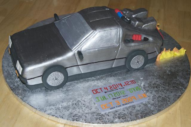 Delorean Grooms Cake
