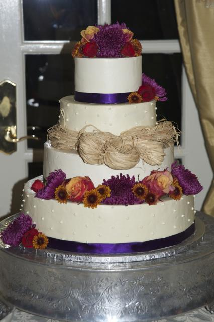 Fall Floral Wedding Cake
